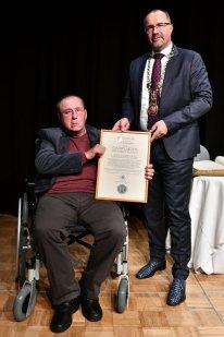 Ehrenbürgerschaft, Stadtplakette Plauen, 2021