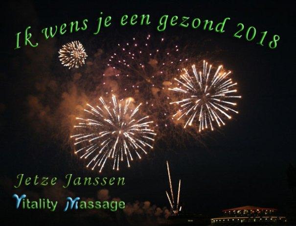 Nieuwjaarsaanbieding en wens vitality massage 2018