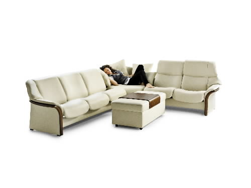 Stressless Granada Low Back Leather Ergonomic Sofa Couch