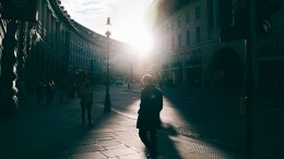 light city streets golden hour