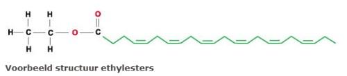 Voorbeeld structuur ethylesters