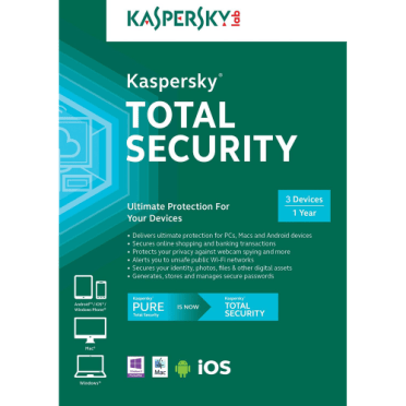 Kaspersky Total Security 2019 - 1 Year, 3 Devices (Download)