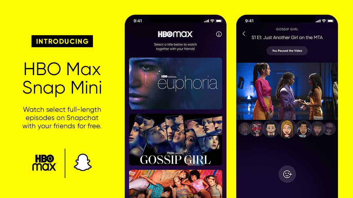 HBO Max Brings Free Episodes to Snapchat - VitalThrills.com