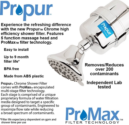 propur shower filter to remove fluoride and chlorine
