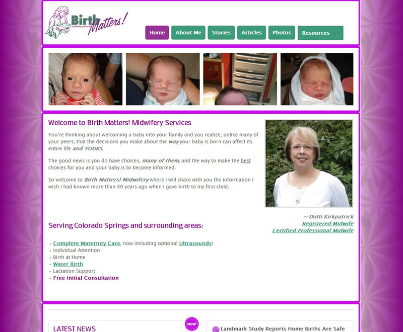 Website Redesign Complete – www.BirthMattersMidwifery.com