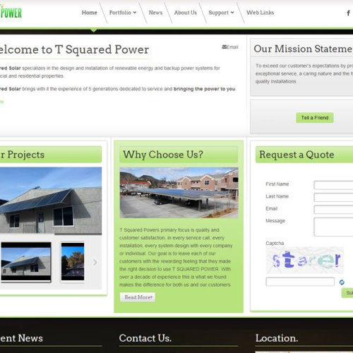 Website Design Complete – www.tsquaredpower.com