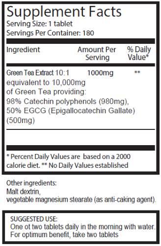 Pureclinica Green Tea Extract ingredients