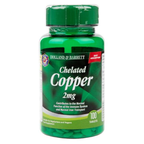 Holland & Barrett Chelated Copper 2mg x 100