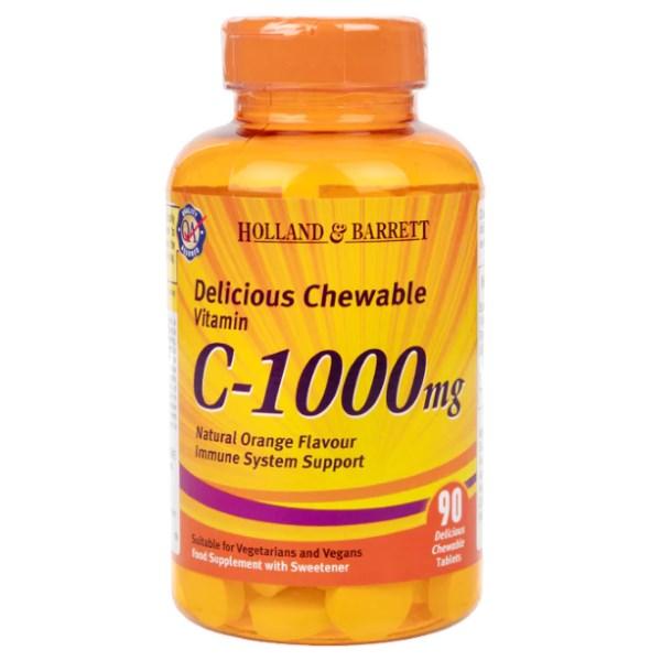 Holland & Barrett Chewable Vitamin C & Rosehip x 90