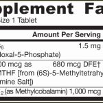 Jarrow Formulas Methyl B-12 & Methyl Folate x 100 ingredients
