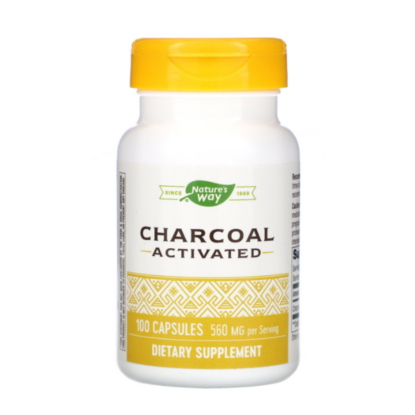 Nature's Way Activated Charcoal 520mg x 100