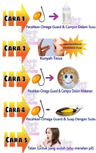 cara makan omega guard bagi kanak-kanak