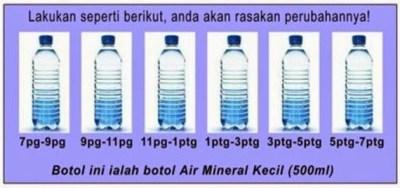 cara minum air 3 liter