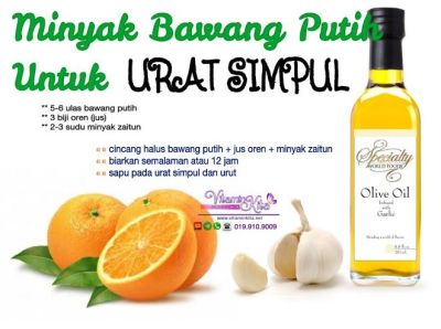 minyak bawang putih untuk urat simpul