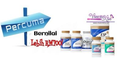 Vitamin Shaklee PERCUMA Bernilai Lebih RM700