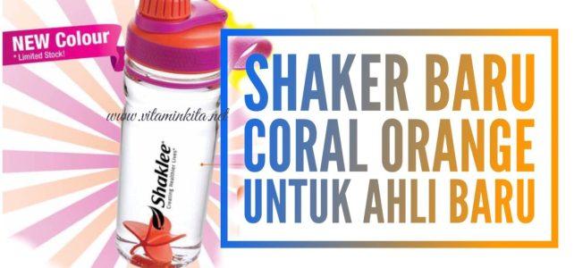Shaker Shaklee Baru Coral Orange Untuk Ahli Baru