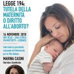 Convegno Legnago, L. 194: tutela della maternità o diritto all'aborto?