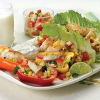 Fiesta Lettuce Wraps and Pepper Boats