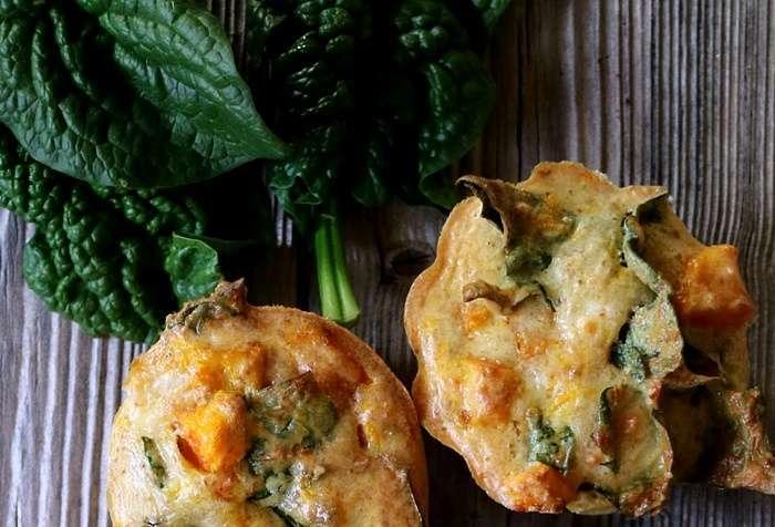 muffins alla feta e spinaci