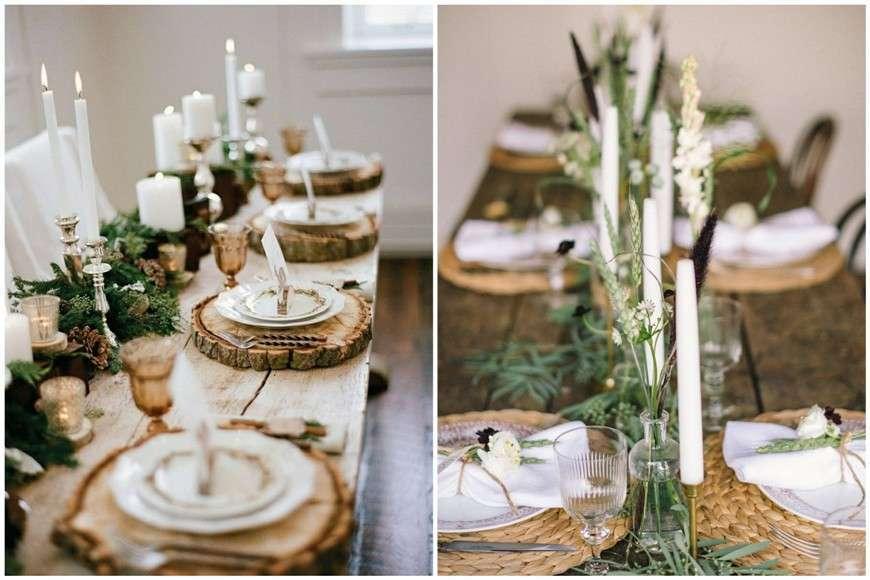 il legno e gli elementi naturali a tavola