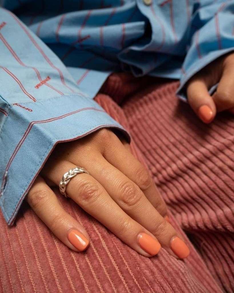 smalto arancione moda 2019