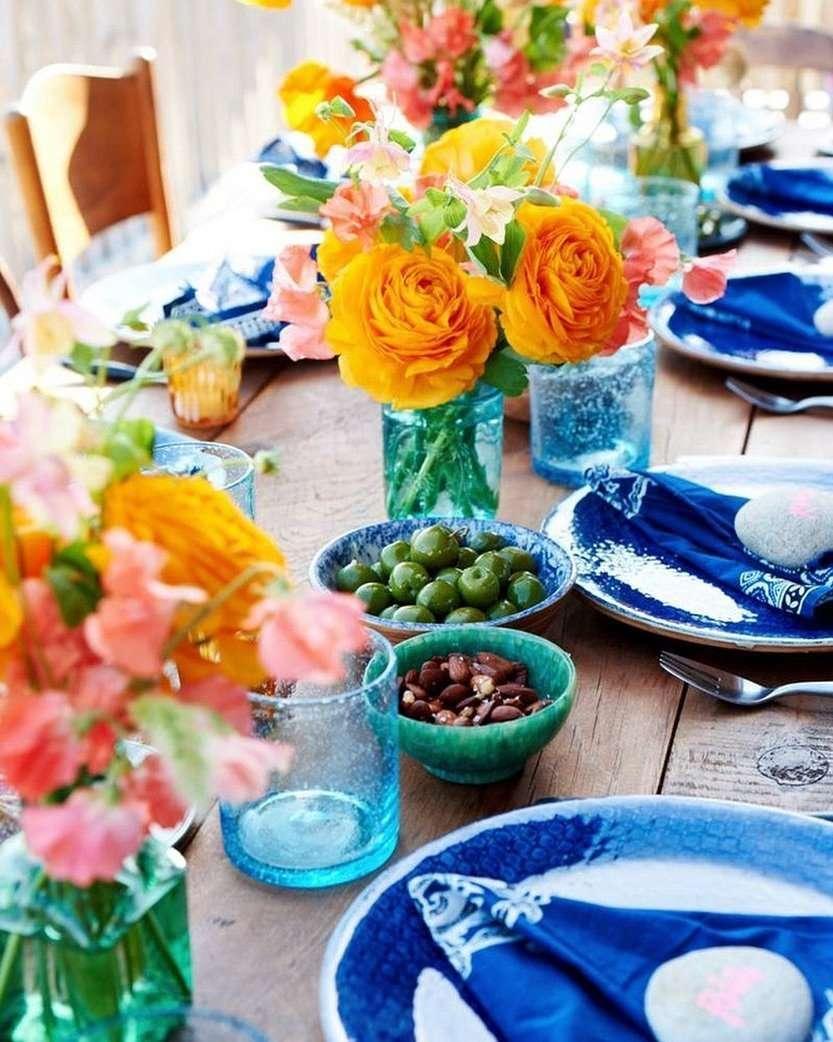 piatti e ceramiche blu capri