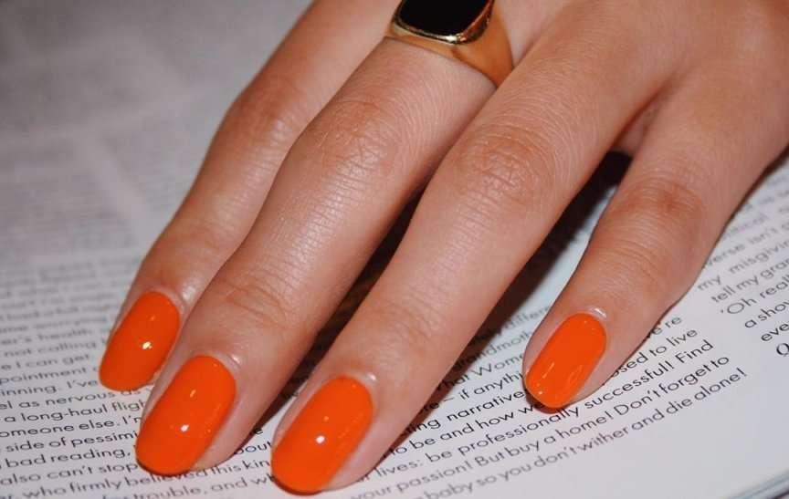 smalto semipermanente fai da te arancione