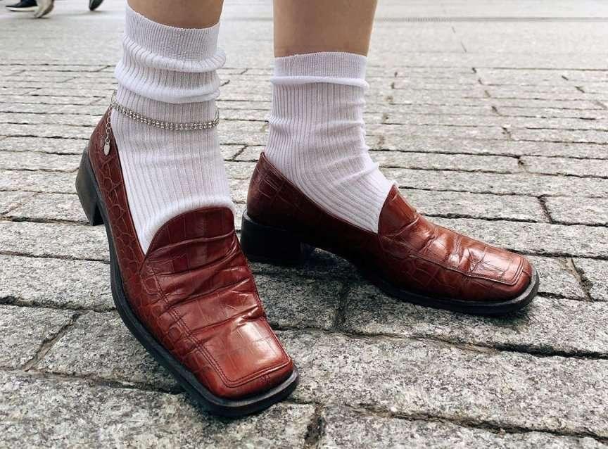 calzino bianco di moda