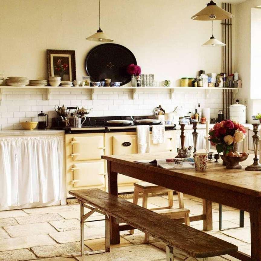 cucina country chic di campagna