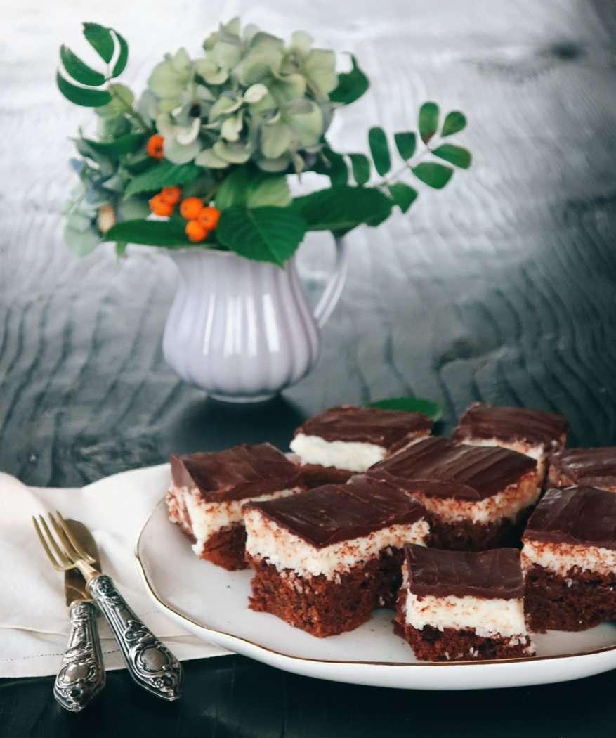 torta bounty al doppio cioccolato e cocco