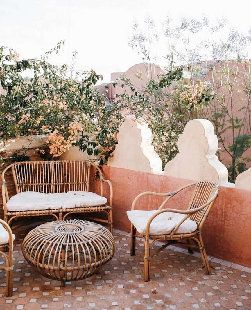 mobili da terrazzo in rattan