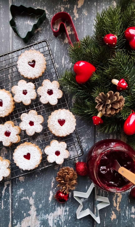 linzer cookies ricetta