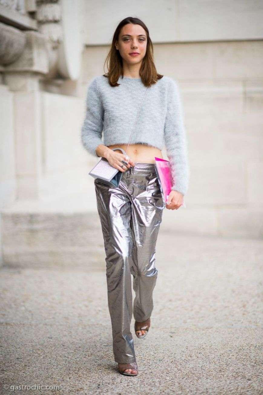 pantaloni metallizzati
