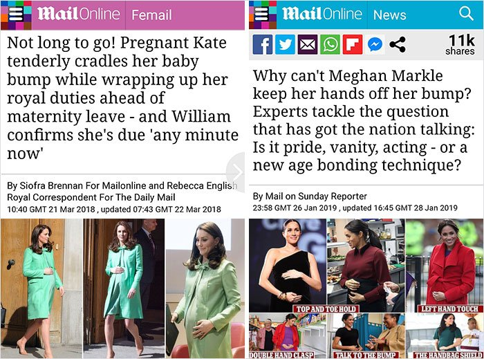 Stampa inglese Kate e Meghan