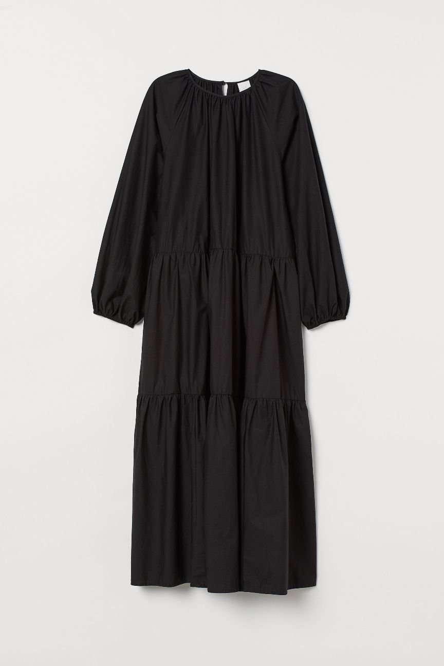 abito nero in cotone H&M