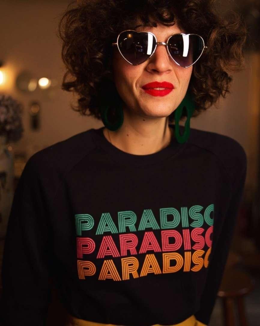 maglia scritta paradiso