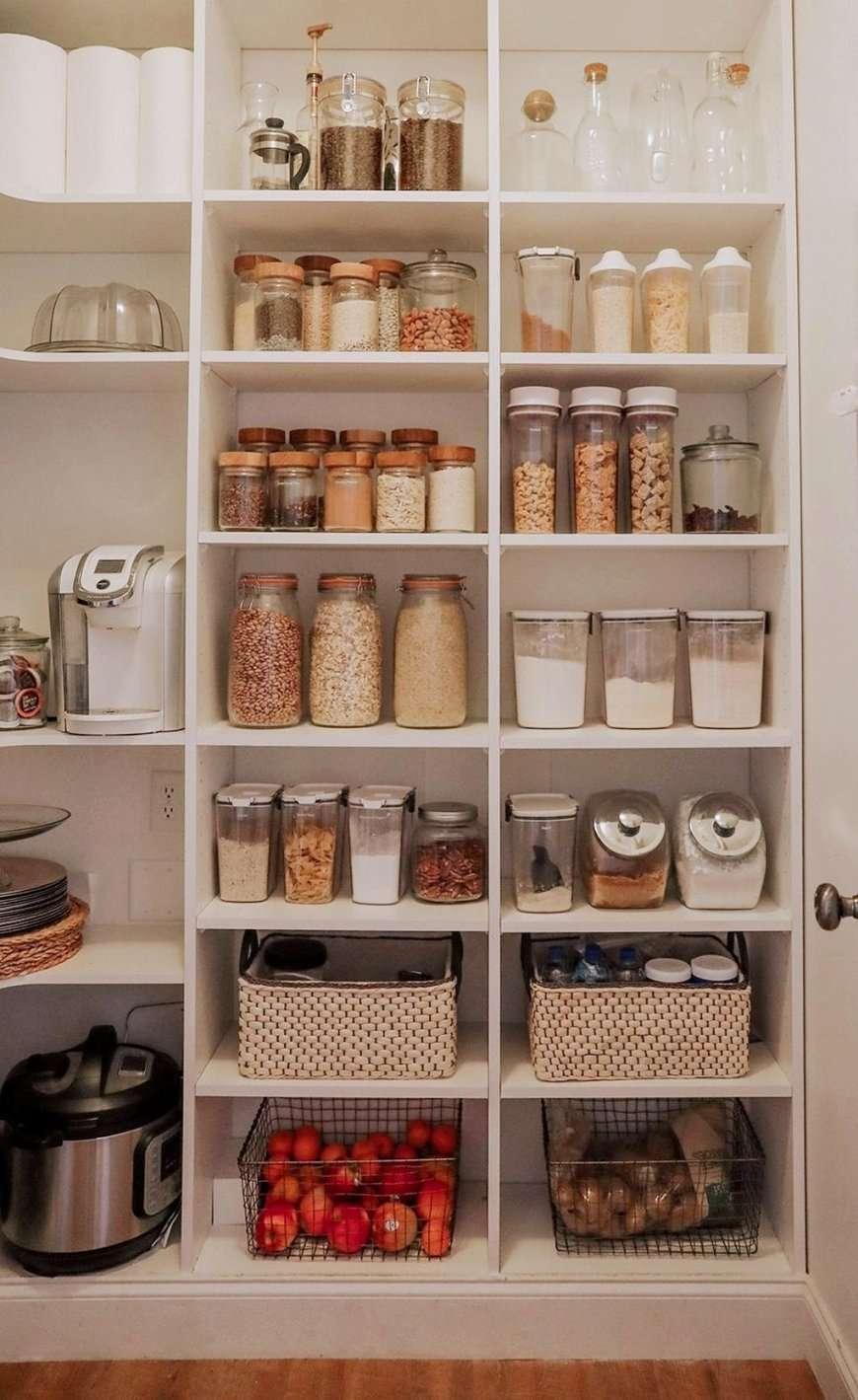 organizzare la dispensa vasetti