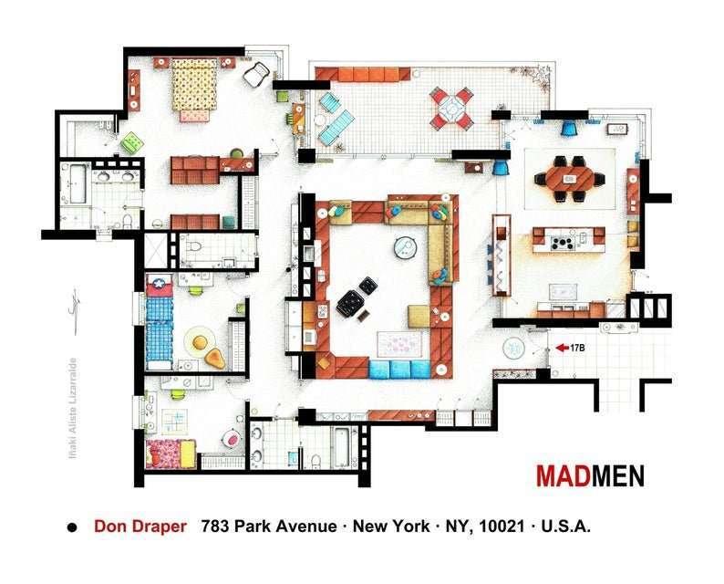 piantina casa mad men
