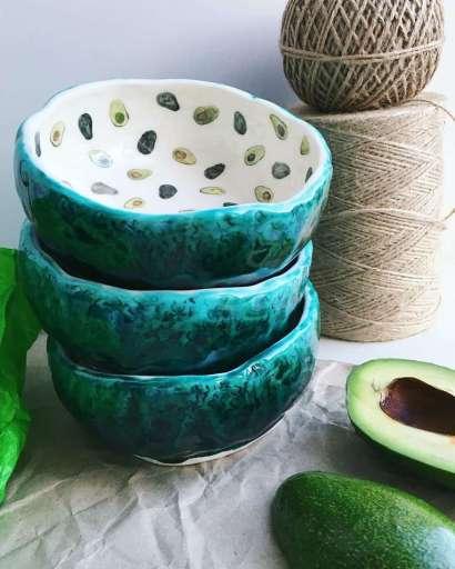 piatti con l'avocado