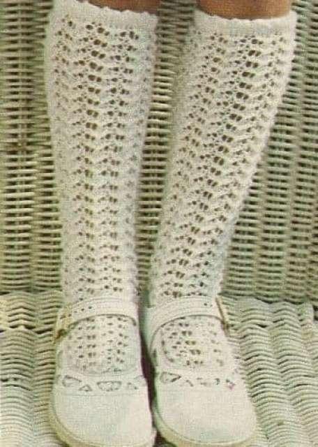 calzettoni traforati in cotone