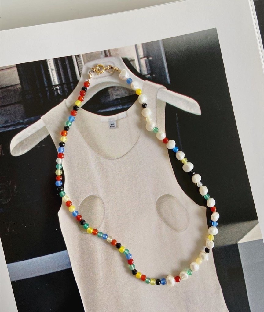 collana pietre colorate
