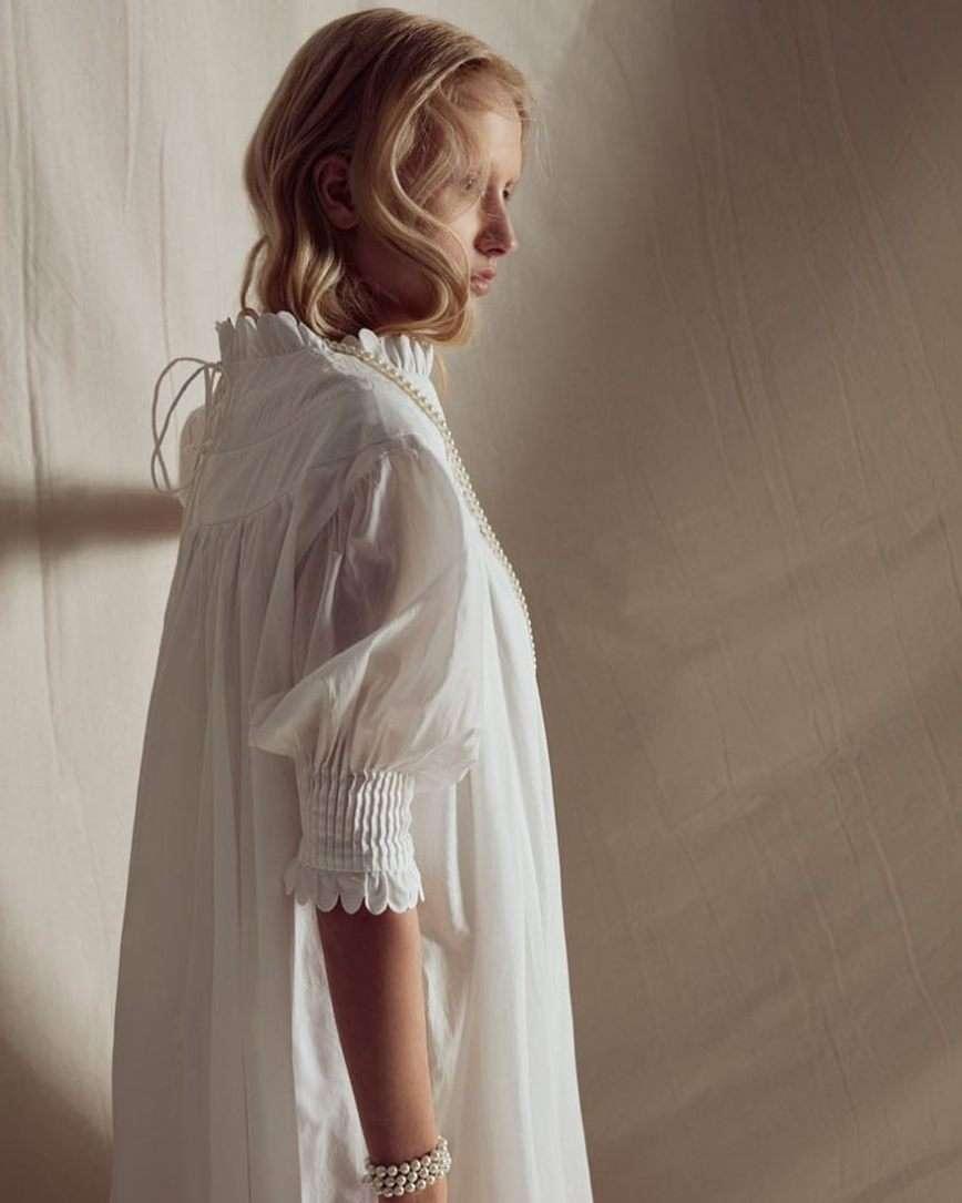 abito bianco in cotone