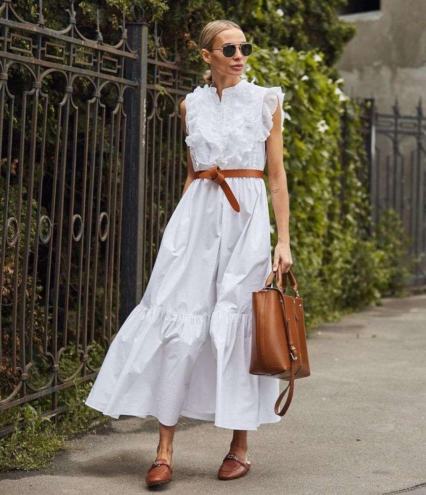 maxi dress bianco