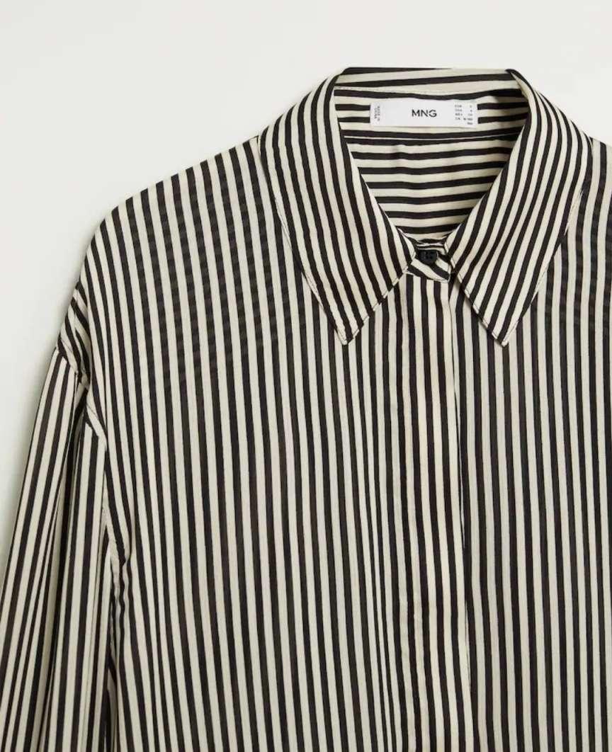blusa a righe verticali