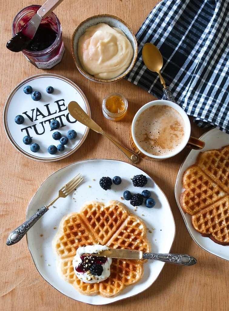 ricetta waffle colazione lenta