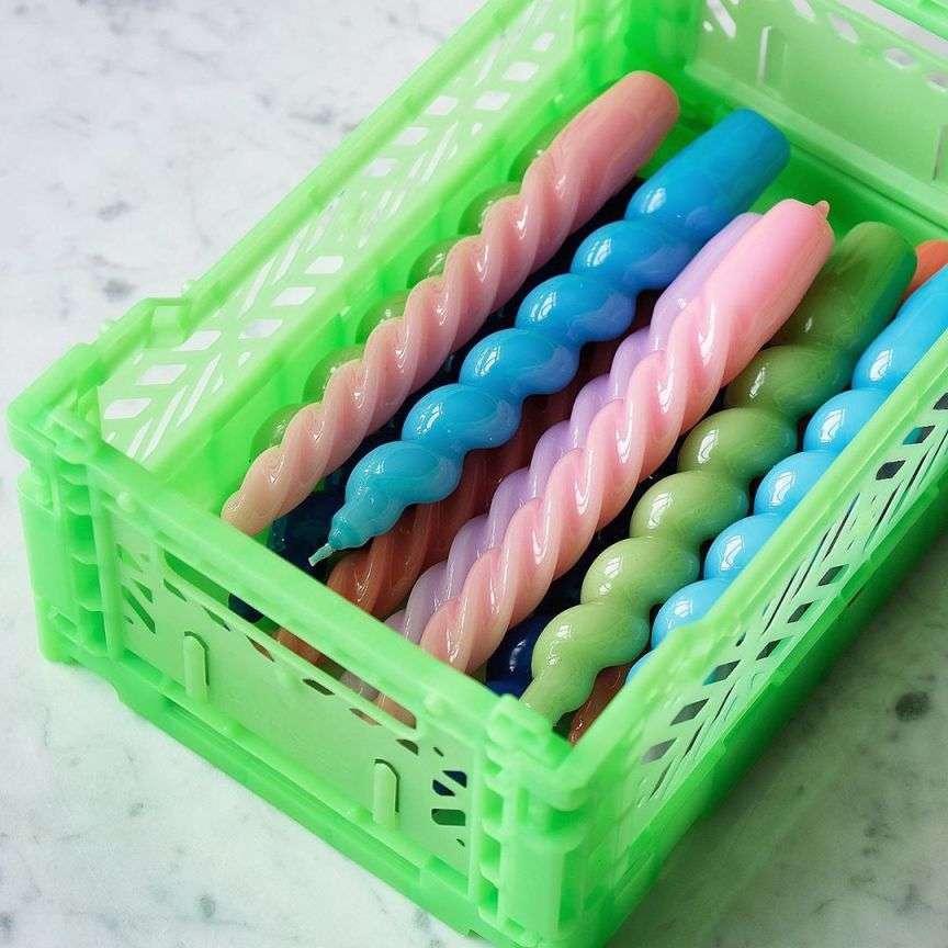 cassette di plastica colorate