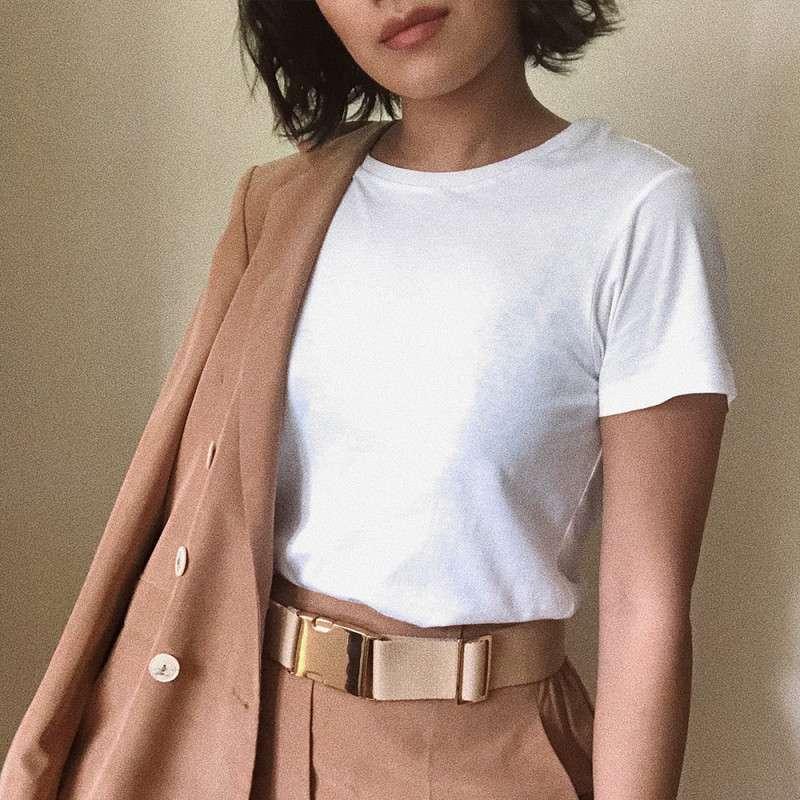 t-shirt bianca - outfit organic basics