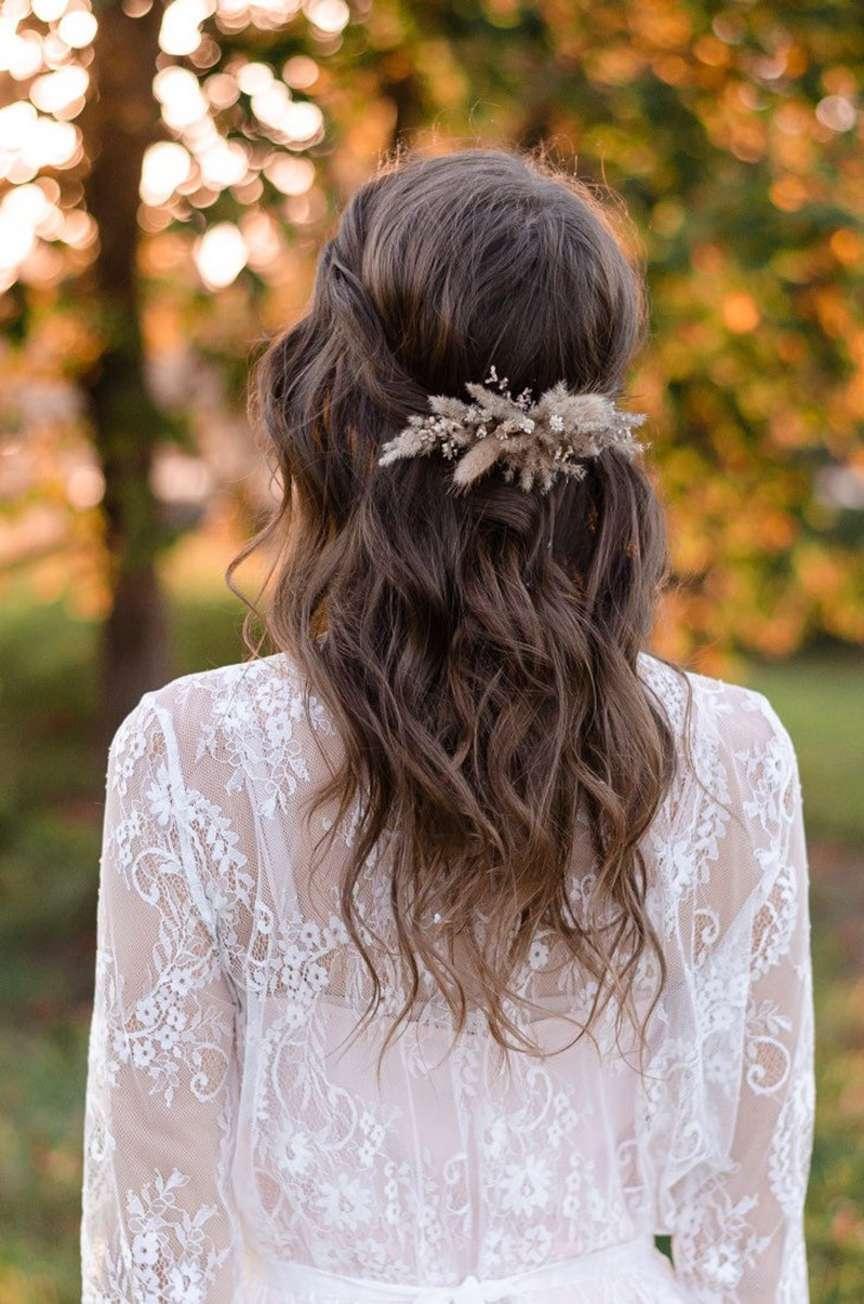 Fermacapelli fiori secchi