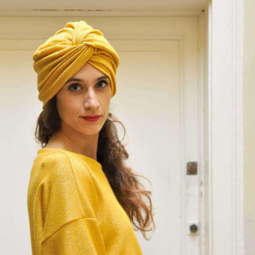Fascia turbante gialla