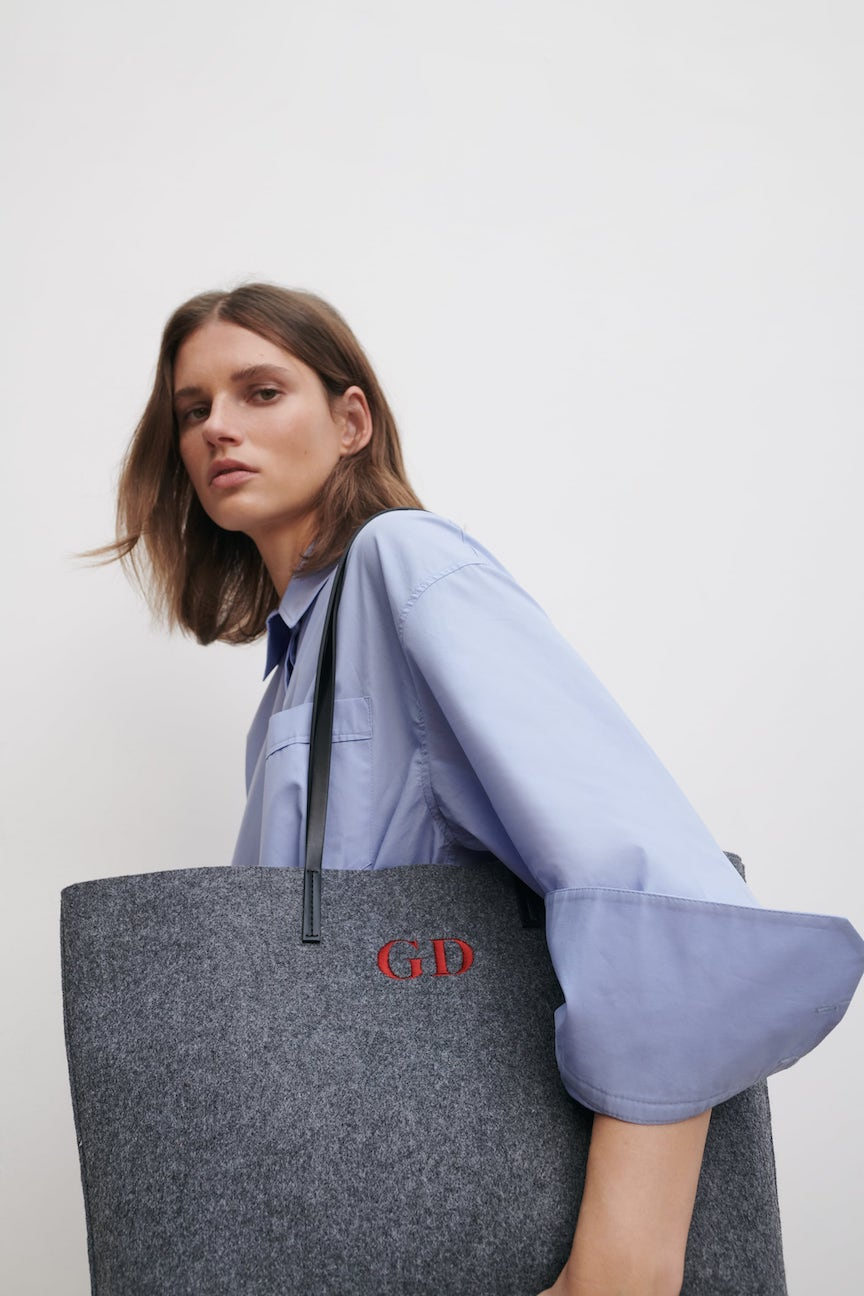 shopper in feltro zara